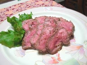 ステーキ肉でローストビーフ