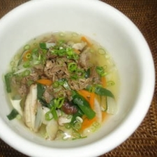 クッパ風にスープご飯