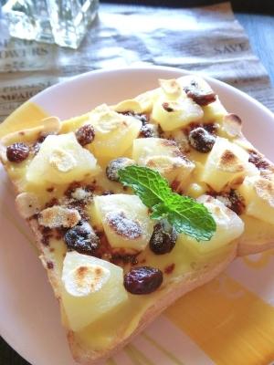 パイナップルとカスタードと珈琲のミルキートースト