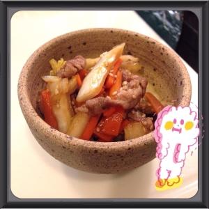 お弁当に☃簡単すき焼きタレの炒め物♡