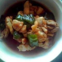 鶏肉とピーマンの炒め煮