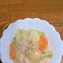 豚こまと野菜のクリームシチュー
