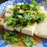とても簡単なタイ風なお豆腐料理