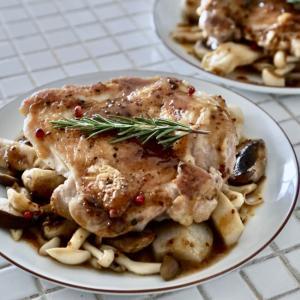 フライパンひとつ!鶏肉と茸のハニーマスタードソース