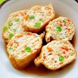 油揚げの鶏ひき肉詰め煮