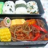 冷凍ストックでお弁当おかず*牛肉とパプリカ炒め*