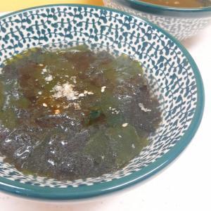 子供が喜ぶ(^^)乾燥ワカメと焼き海苔のスープ♪