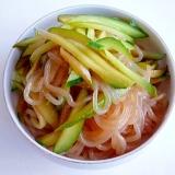 しらたきときゅうりで 中華くらげサラダ風