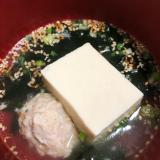 鶏つくねと豆腐の鍋
