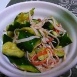 きゅうりとカニカマの簡単サラダ
