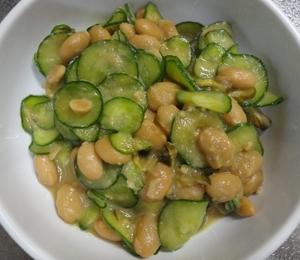 大豆ときゅうりときゅうりのキューちゃんの和え物