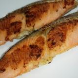 フライパンで焼き塩鮭