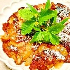 しっとりタルトタタン風☆フライパンりんごケーキ
