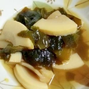 竹の子とワカメの煮物
