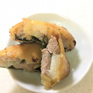豚肉と長芋の春巻き