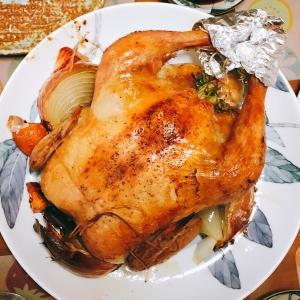 クリスマスに!丸鶏のローストチキン