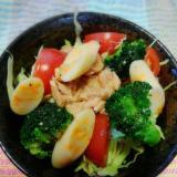 チーカマとツナとブロッコリーのサラダ(^o^)