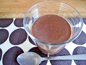 アガーで簡単! チョコレートムースプリン
