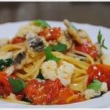 鱧とミニトマトのスパゲッティ