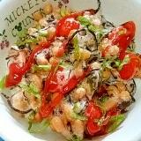 納豆の食べ方-ひじき&梅トマト♪