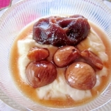 秋のヨーグルト~栗の渋皮煮と餡子