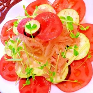 トマトと水茄子のスイチリオニオンサラダ