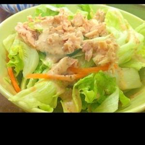 松の実とツナのサラダ
