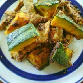 豚肉とかぼちゃのカレールウ炒め