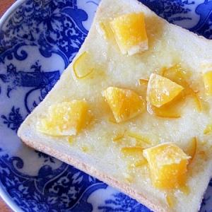 おやつにも!ダブルでオレンジなトースト♪