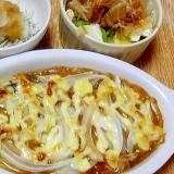 鯖の味噌煮缶でマヨオーブン焼き