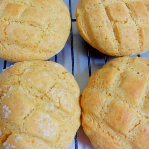粉末紅茶で簡単レモンティ風味のメロンパン?