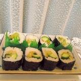 白菜と野沢菜ゆず風味漬物の巻き寿司