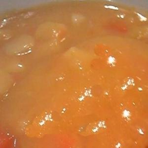 ジャガイモと人参入り♪冷たいコーンのスープ
