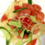 お家にある野菜で♡サラダスパゲティ