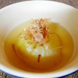 白ダシで丸ごと玉ねぎの和風スープ