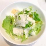 セロリとキウイとゆで卵の☆簡単シーザーサラダ