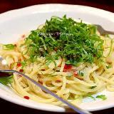 鱈子と韮のスパゲッティー