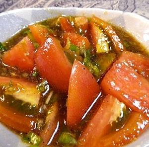 長ネギトマトの中国風サラダ