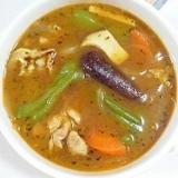 茄子とピーマンのスープカレー