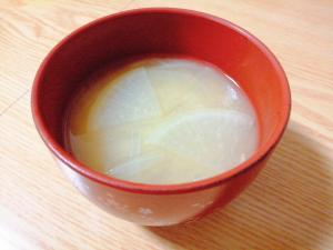 大根と玉ねぎの味噌汁