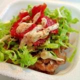 白菜と福神漬けのマヨかけ納豆