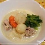 低カロリー「菊芋のクリームシチュー」