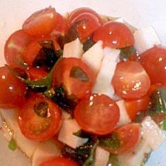 長いもとトマトのサラダ