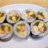 高菜炒め、卵、カニカマの巻寿司