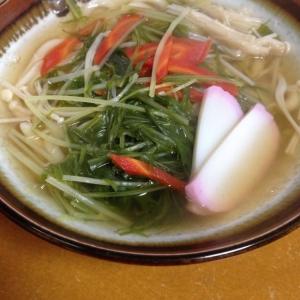 水菜たっぷり★あったか〜〜うどん(*^^*)