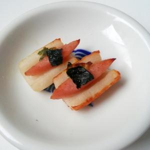 魚肉ソーセージとちくわのおつまみ焼き☆マヨネーズ味