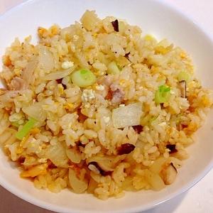 超簡単☆豚バラと椎茸の美味しい炒飯