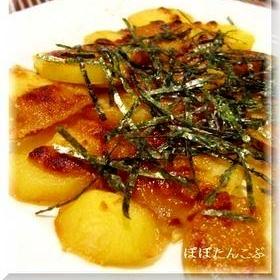 フライパン不要★じゃが芋麺つゆチーズ焼き