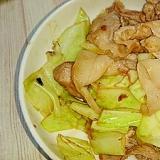 豚こまと春キャベツの簡単ガリポン炒め