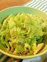 キャベツの簡単和風サラダ1品
